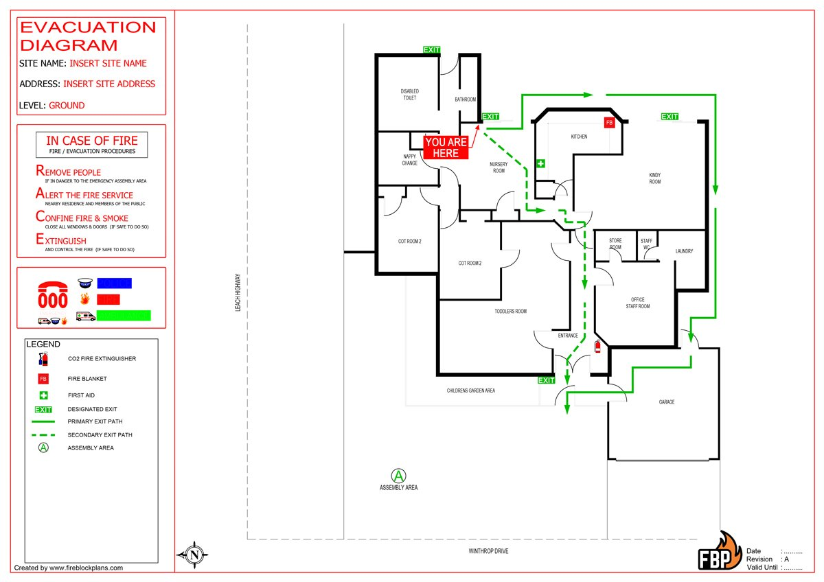 Emergency Evacuation Diagrams Australia - Fire Protection Australia