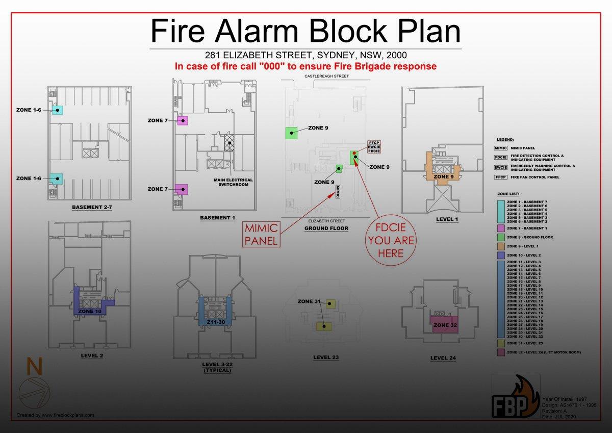 Regency Hyde Park Fire Hydrant Block Plan