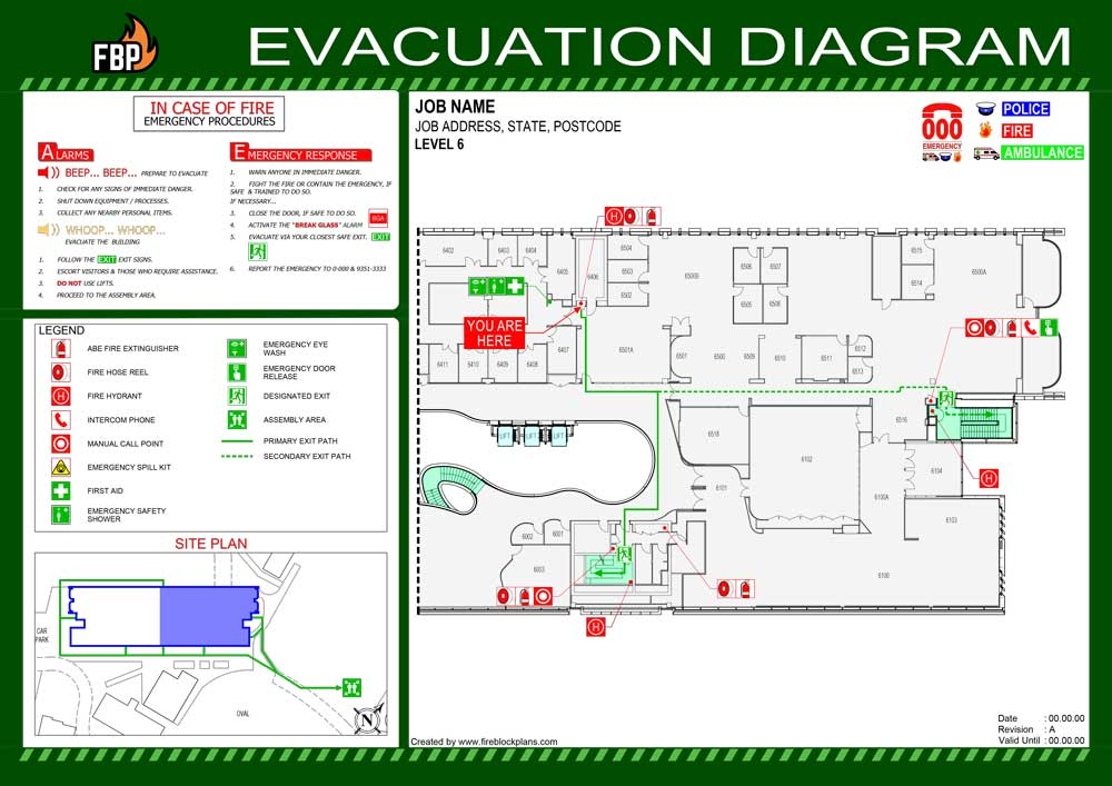 Evacuation Diagram Example 01