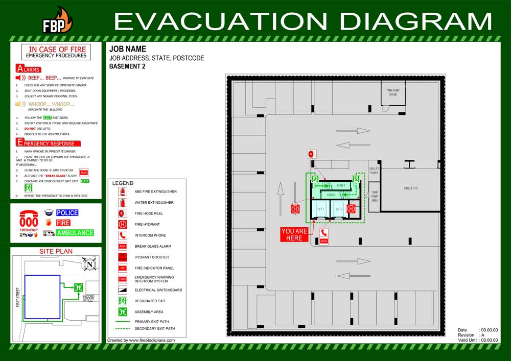Evacuation Diagram Example 02