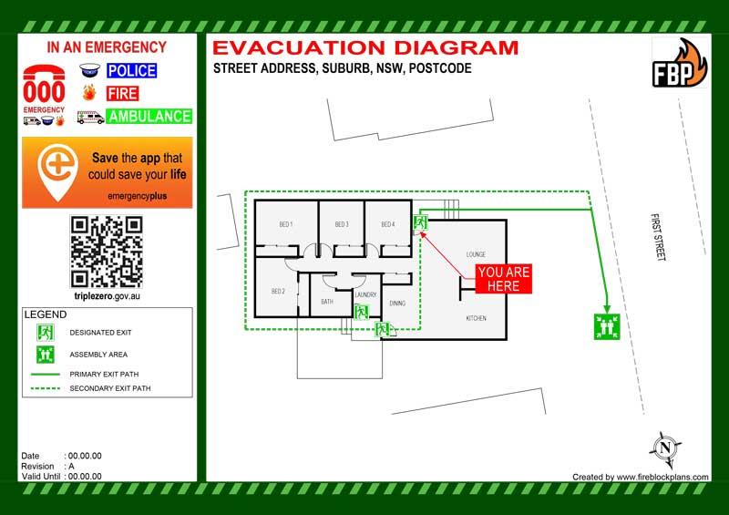 STRA Evacuation Diagram